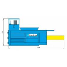 Малогабаритный горизонтальный пресс для прессования твердых бытовых отходов ПГП-6Г и его модификация ПГП-6-1Г с двигателем на 220В