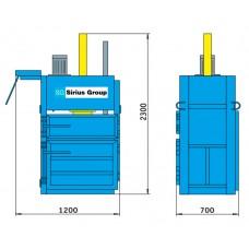 Пресс для отходов ПГП-6